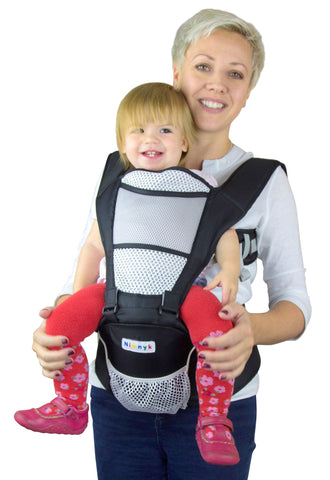 "Child Carrier Sling with HipSeat (Black) by ""NimNik Baby"""