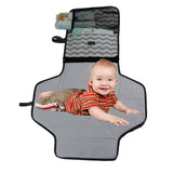 Baby Diaper Changing Station | Fashionable Portable Table Pad Change Mat for Travel & Home