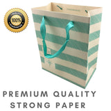 "Gift Bags Christmas Medium Luxury [12 pack] Shopping Paper Bag 9"" x 7"" x 4"" inch"