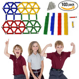 Magnetic Building Toys [103 pcs] Tiles Set for Toddlers Educational Games for Kids