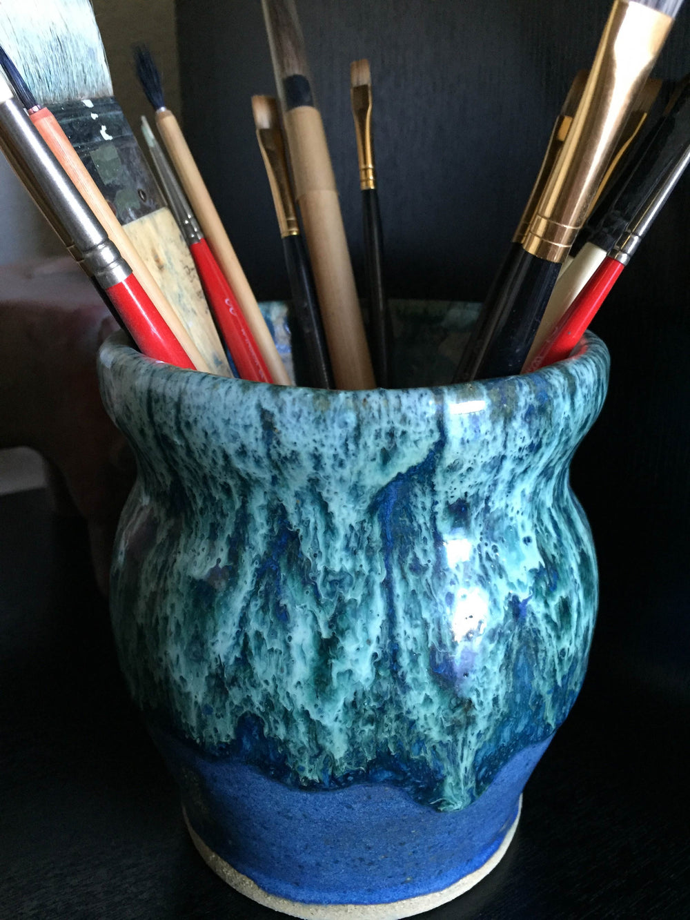 Ben Hogestyn Malibu Ceramics Pottery Glaze Paint brushes Holder