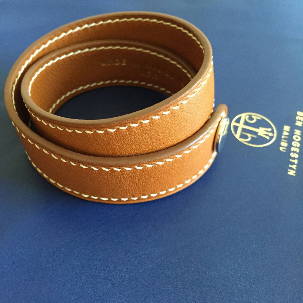 Ben Hogestyn Malibu Leather From Hermes Wrap Bracelet