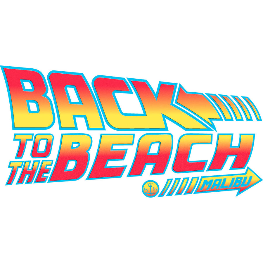 "Back to the Future 80s movie inspired Graphic Hoodie Sweatshirt ""Back To The Beach"" in (Black) by BEN HOGESTYN MALIBU"