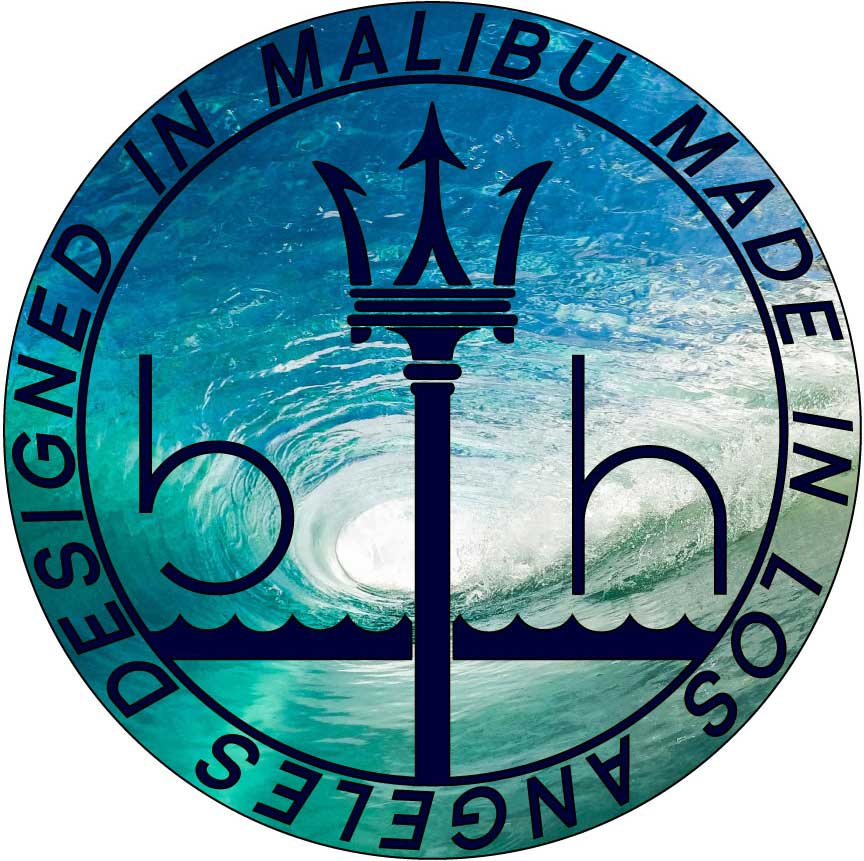 """Malibu Wave"" Indigo Blue Graphic Hoodie by BEN HOGESTYN MALIBU"