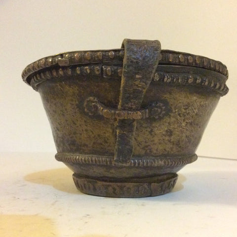 Antique Metal Container to House a Monks Bowl