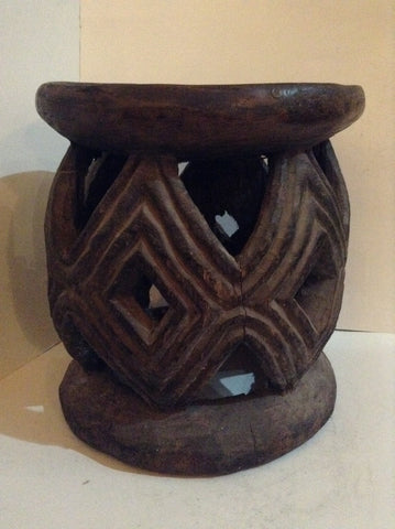 Old Bamileke Large Stool