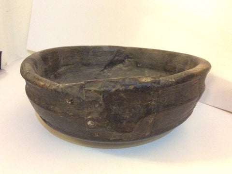 Antique Rustic Wooden Bowl