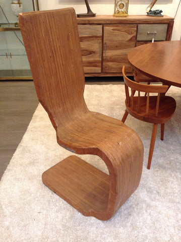 Unusual Vintage Mid-Century Bentwood Chair