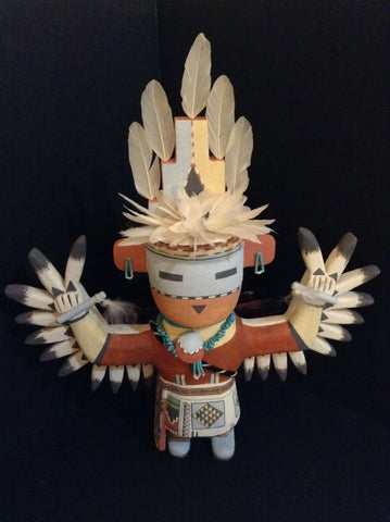 Authentic & Impressive Hopi Knife-Wing Dancer Figure by Polyestewa