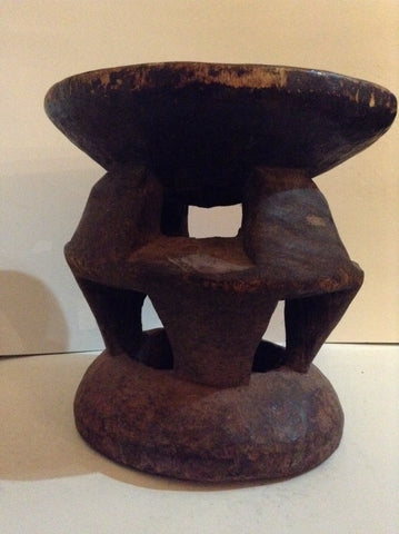Antique African Stool from with a Highly Abstract Design