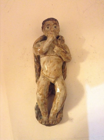 A Vintage Ceramic Figure with a re-moveable Lid on Stomach