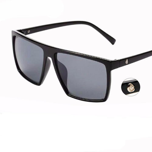 Retro steampunk frame skull square, women sunglasses, male sunglasses men all black oversized.