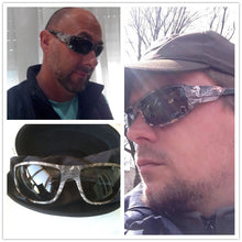 Camo frame polarized sunglasses. Goggle men's. UV400.