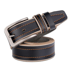 Fashion Luxury  men. Genuine Leather belt. Pin buckle.