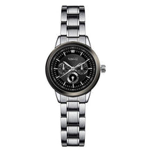 Women's watch elegant luxury silver quartz, Watches Ladies steel. Gift to you