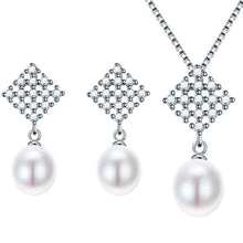Nice freshwater pearl jewelry sets, 925 Sterling silver pendant necklace pearl earrings. NATURAL AS YOU. BUY IT NOW!
