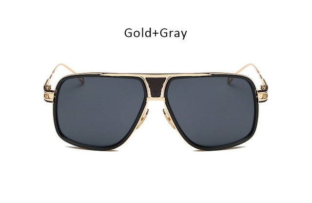 Give your unique look. Men's big sunglasses, Metal. Ideal for Driving.