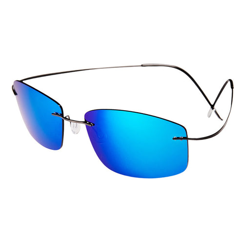 Ultra-light Rimless Titanium Polarized Sunglasses Men Driving.