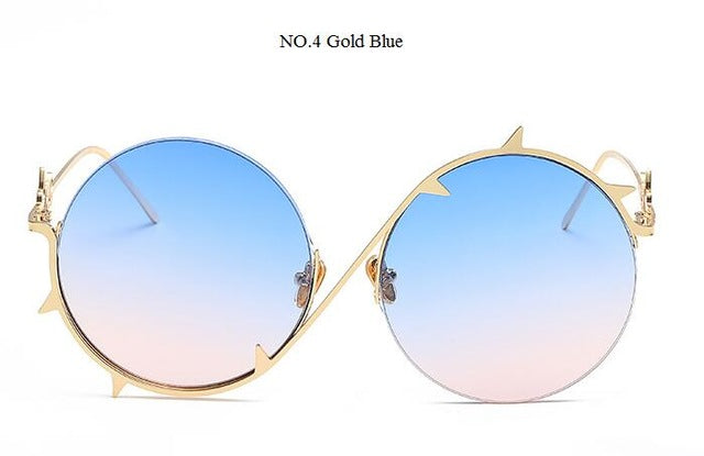 Glasses Frame Gradient Sunglasses for women sexy chic Thorns Alloy Shades Transparent.