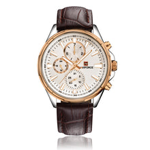 Fashion chronograph men's sports watches, waterproof casual quartz.