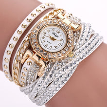 Gold fashion crystal rhinestone bracelet, women watch. BUY NOW!