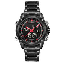 Top men's watches luxury brand. Quartz, hour analog LED, sportsmen, army, military.