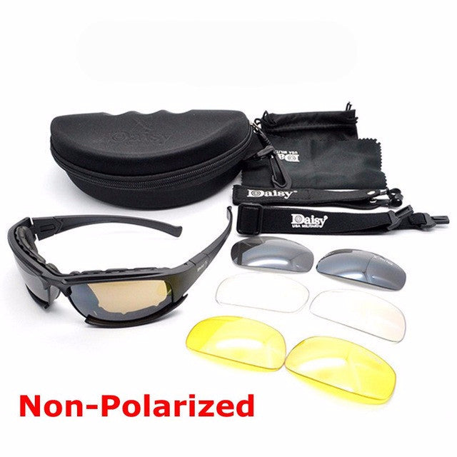 Military goggles bulletproof. With 4 lenses men shooting eyewear.