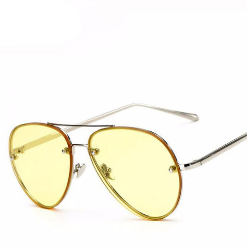 Women's sunglasses, pilot's design, clear lens, BUY IT NOW!