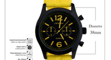 Sports watches for lady colorful silicone straps. Luxury women's casual wrist quartz-watch.