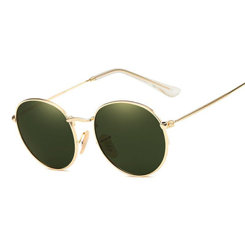 Small Round Sunglasses Women and Men Classic, Metal Frame Mirror Sun Glasses Vintage UV400 Rays.