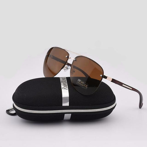 Fashion sunglasses semi-rimle, Men's classic aviation. SHOP NOW!