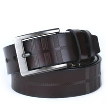 Men's belt for leather lovers, pin buckle.