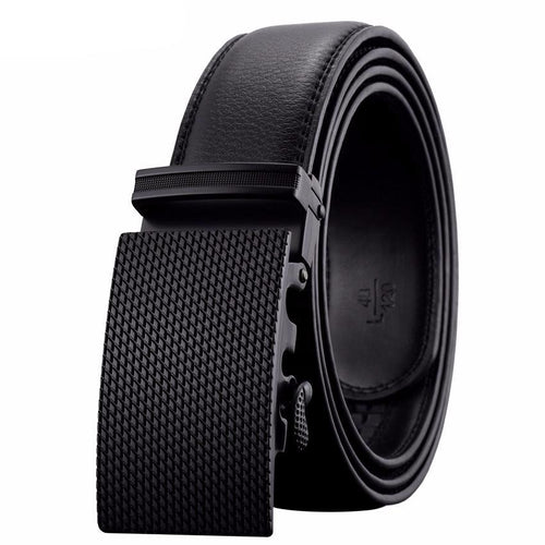 Formal belt for men, made of leather, with automatic buckle. SHOP NOW!