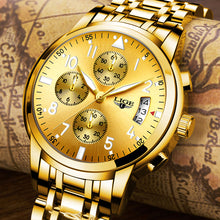 Watches for men, fashion brand multifunction chronograph quartz, men military sport wristwatch male.