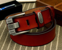 Pure leather belt for men, double pin buckle. BUY IT NOW!