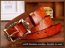 Wide genuine leather woman belt, vintage floral, strap for your jeans...yes. BUY IT NOW!