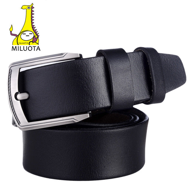 Belt for Men 100% Genuine leather, metal pin buckle Vintage.