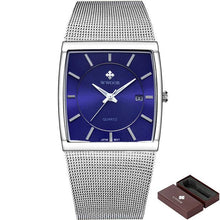 Multi-function men's square watch, exquisite dial, will display glow effect.