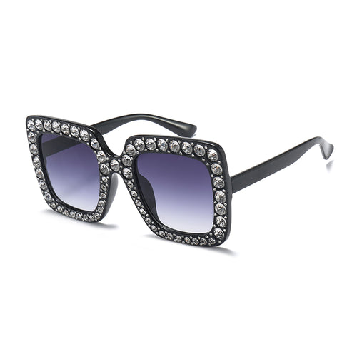 Women sunglasses, with rhinestone Inlay, oversized. For your eyes. BUY NOW!