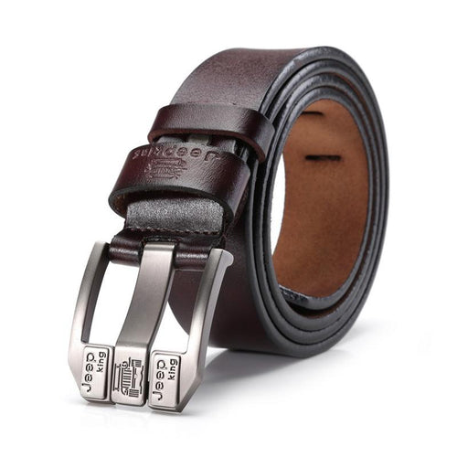 Genuine Cow Leather Men Belts Luxury belts Strap Male Leather Belt men Fashion Pin Buckle Belt