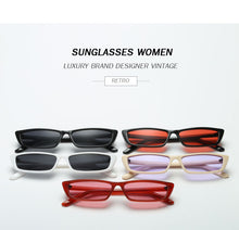 Vintage rectangle sunglasses women small frame.