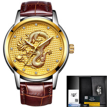 Men's watch, gold dragon sculpture. Elegant for all your moments ...si... BUY IT, NOW!