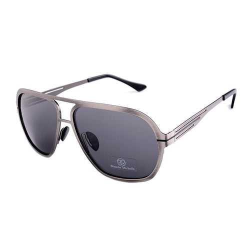 Polarized sunglasses for men. Pilot sunglass stainless steel.