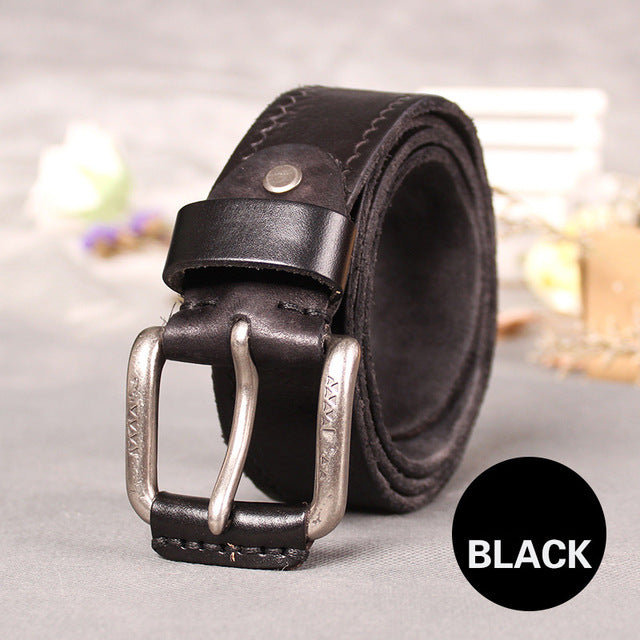 So you enjoy a comfortable wearing experience. 100% top cow leather belt, simple style for men, for you... HURRY UP NOW!