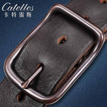 Retro alloy buckle, highlight the men's style. Your genuine leather belt. BUY IT NOW!