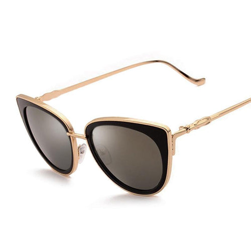 Sunglasses for Woman, mirror metal retro cat eye, ladies vintage eyewear. HURRY!