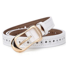 Women's leather belt, fashion, for decorative jeans, and dress.