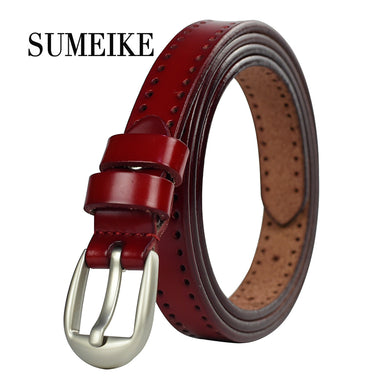 Women's belt, Luxury Fashion Thin Waist Belt Cummerbunds Genuine Leather.