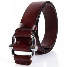 Smooth buckle metal belt solid, cowhide no holes for women in style... yes for you. SHOP IT NOW!