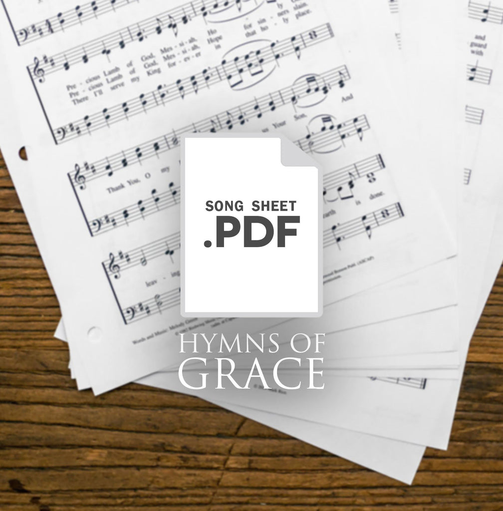0 - Copy-written single song-sheet from Hymns of Grace